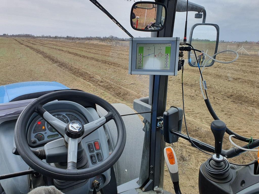 Plantare mecanizat cu sistem GPS